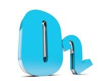 Oxygen. O2 - Blue Oxygen molecule symbol royalty free illustration