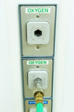 Oxygen outlet. In operating room stock image