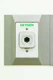 Oxygen outlet in operating room Royalty Free Stock Photo