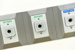 Oxygen outlet in operating room Royalty Free Stock Photos