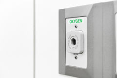 Oxygen outlet in operating room Stock Photos