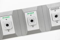 Oxygen outlet in operating room Stock Photography