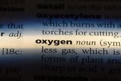 Oxygen. Word in a dictionary.  concept stock photos