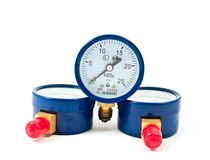 Oxygen pressure gauge Stock Images