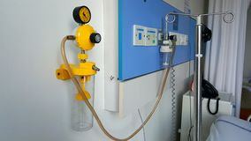 Oxygen supply equipment. System and equipment for providing oxygen to patients in hospital royalty free stock photo