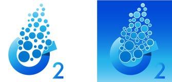 Oxygen symbol. A illustration of oxygen symbol stock illustration