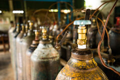 Oxygen tank Royalty Free Stock Images