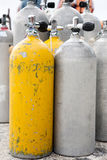 Oxygen Tanks. For Scuba Diving royalty free stock photo