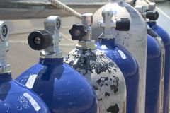 Oxygen Tanks Stock Photography
