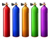 Oxygen tanks. Illustration of the oxygen tanks on a white background Royalty Free Stock Photography