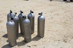 Oxygen Tanks  Stock Photos
