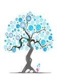 Oxygen  tree. Cartoon tree on white background Royalty Free Stock Photos