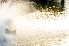 Oxygenation in water by turbine.  royalty free stock image