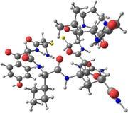 Oxytocin μόριο που απομονώνεται στο λευκό Στοκ φωτογραφία με δικαίωμα ελεύθερης χρήσης