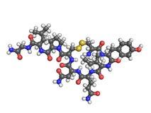 Oxytocin molecule op wit royalty-vrije illustratie