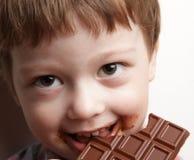 Oy con el chocolate foto de archivo libre de regalías