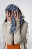 Oy Vey met een sjaal Royalty-vrije Stock Afbeelding