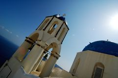 Oya City Church. In Santorini, on the Greek Islands Royalty Free Stock Images