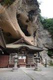 Oya ji temple under rock near Utsunomiya in Japan. Oya Temple 大谷寺, Ōyaji is a 1200 year old Buddhist temple constructed in the volcanic, oya royalty free stock photo