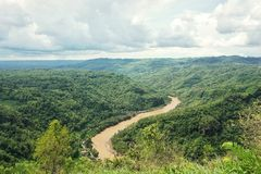 Oya River. Located in district Dlingo, Bantul. this view looked from sightpost on Mangunan park stock images