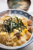 Oyakodon japonais de cuisine Images libres de droits