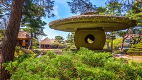 Oyakuen医药药草园在Aizuwakamatsu,福岛,日本 免版税图库摄影