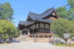 Oyama寺庙今池日本 库存图片