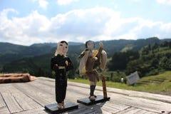Oyama-Reis-Terrasse stockbilder