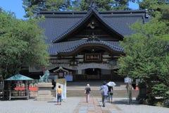 Oyama relikskrin Kanazawa Japan Arkivbilder