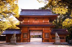 Oyamazumi-Schrein-Tor - Omishima-Insel - Ehime, Japan lizenzfreies stockfoto