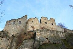 Oybin castle and monastery Royalty Free Stock Photography