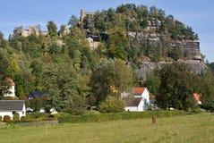 Oybin in Oberlausitz, Germany. Village and rock castle Oybin in Oberlausitz, Germany Royalty Free Stock Photos