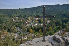 Oybin in Oberlausitz, Germany Royalty Free Stock Photos