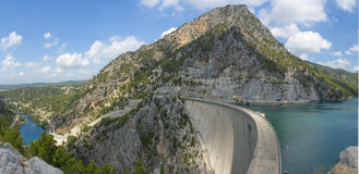 Oymapinar水坝全景 库存照片