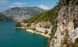 Oymapinar水坝-看法 库存图片