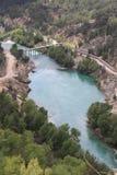 Oymapinar Baraji - grüner See Lizenzfreies Stockfoto