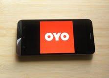 Oyo app στοκ εικόνες