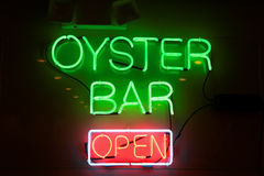 Oyster Bar Sign Royalty Free Stock Photo