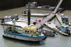 Oyster boats in French Oleron Stock Photo