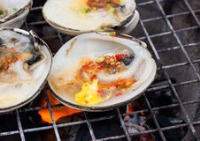 Oyster butter. On the grill Royalty Free Stock Photography