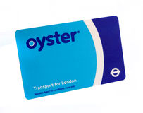 Oyster card Royalty Free Stock Photo