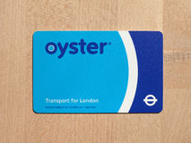Oyster card for London transport Royalty Free Stock Images
