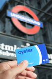 Oyster card in London, United Kingdom royalty free stock photo