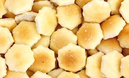 Oyster Crackers Close View Stock Photo