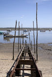 Oyster culture in the Bay of Arcachon Stock Photo