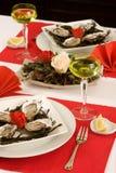 Oyster dinner Stock Photo