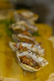 Oyster Extravagance. A gourmet delight of local oysters Royalty Free Stock Photo