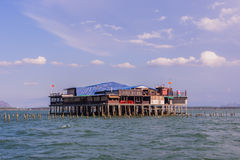 Oyster farm. On the gulf of Thailand Stock Photography