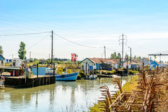 Oyster farming site on Ile d Oleron Royalty Free Stock Photo