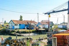 Oyster farming site on Ile d Oleron Royalty Free Stock Photos